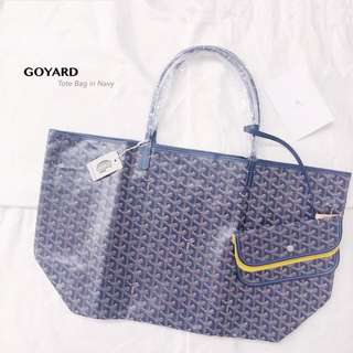 GOYARD Classic Tote Bag GM Size in Navy