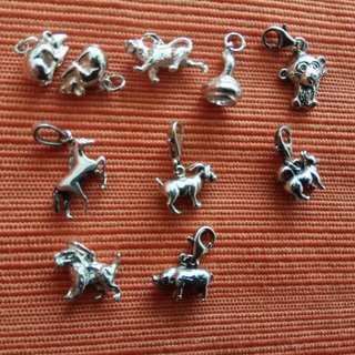 925 Silver Zodiac Small Charm