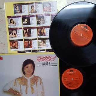 邓丽君正版 双碟 演唱會实錄黑膠唱碟