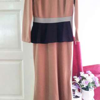 Peplum long dress
