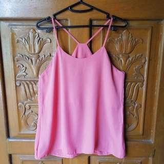Baby Pink Sheer Top