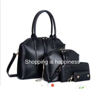 2 pcs handbag and sling bag
