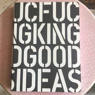 Nuuna Graphic L 'F***ing Good Ideas' White Bonded Leather Notebook