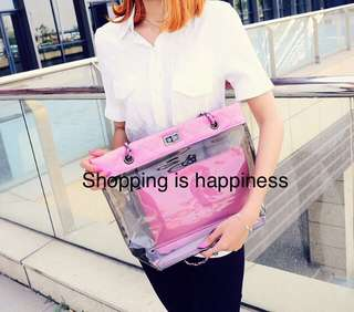 2 pc Transparent bag set
