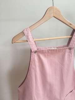 Olive Clothing Pink Pinafore Dress