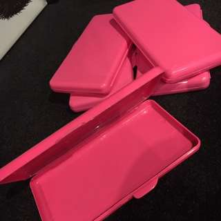 Pink Wipes Travel Case Plastic