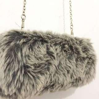 Fur Clutch by Berrybenka Label