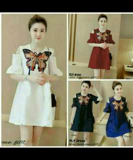 DRESS FLY BAHAN TWISCONE FIT TO L