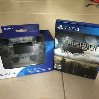 BNIB PS4 Controller Crystal and Final Fantasy XV