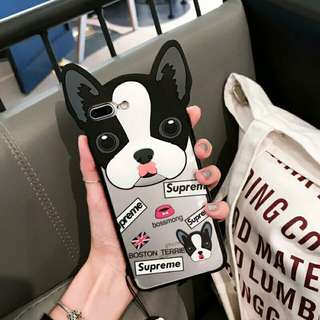 ⚠ Pre-order! Cute UK Boston Terrier Supreme bossing dog design Phone Cover For IPhone 6, 6S, 6 plus, 6S Plus, 7, 7 Plus, 8 & 8 Plus and X!! (Enquire for availability!)