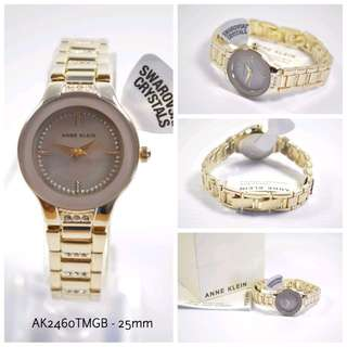 ANNE KLEIN AK2460TMGB MOP DIAL GOLD TONE LADIES WATCH