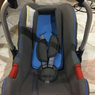 Mamakiddies New born/infant Car Seat & Baby Carrier Rocker Blue