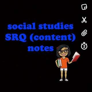 o level ss SRQ notes