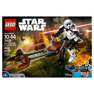 BNIB - LEGO Star Wars 75532 (Scout Trooper & Speeder Bike)