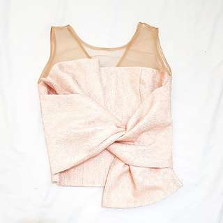 NYLA Bow Top in Rose