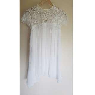 White Lace Swing Dress