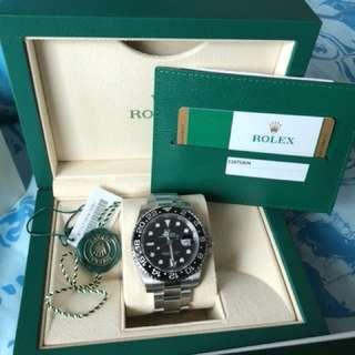 Rolex 116710LN GMT II 黑圈線針 全新行貨 888 New date