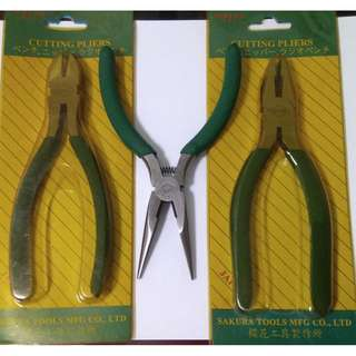 New Pliers (Needle nose, lineman's, cutting)