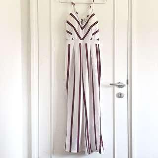 Stripe Long Jumpsuit