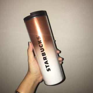 Starbucks tumbler gold botol grande