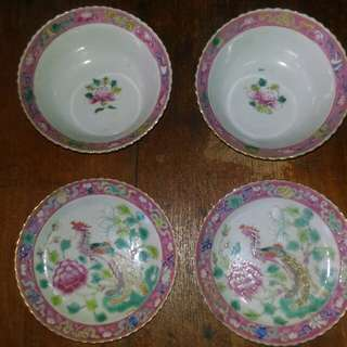 Peranakan bowl and plate