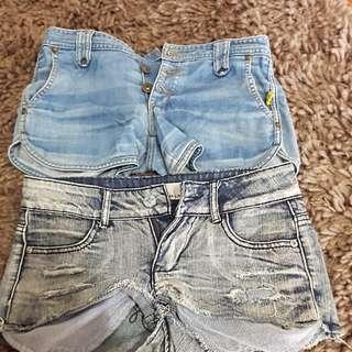 Bettina liano denim shorts x2