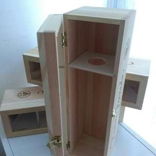紅酒木盒(空盒)