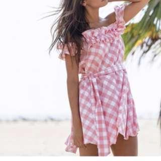 Steele Off Shoulder Pink Dress