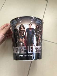 (Name your price) justice league large popcorn aluminium tin