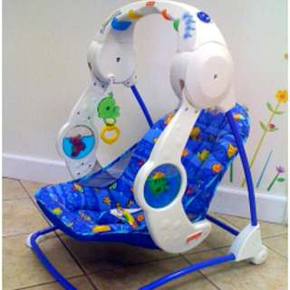 Baby fisher Price Aqweriyum style swing very strong