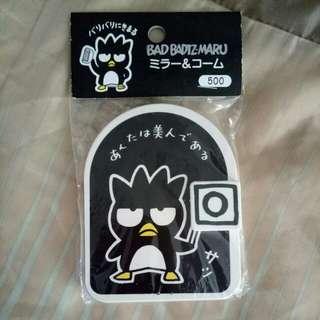 Sanrio Badtz-maru comb mirror set