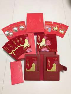2Boxes Credit Suisse High Grade Velvet Red Packets *Comes with Sanrio character RPs