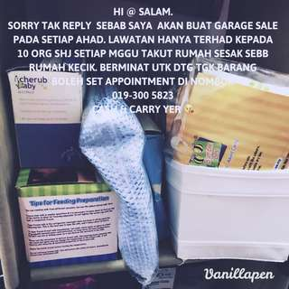 Garage Sale Pls Msg/Whatsapp 0193005823 for appointment