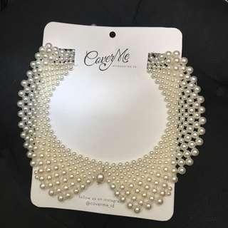 Pearl colar necklace - Kalung kerah mutiara
