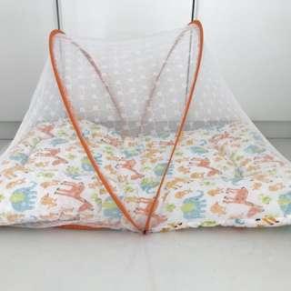 Kasur lipat bayi anti nyamuk kelambu
