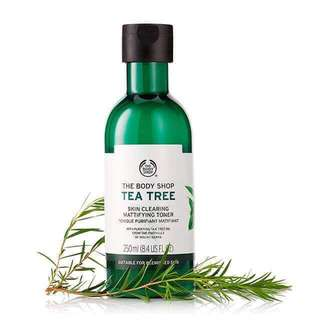 FREE POSTAGE The Body Shop Tea Tree Toner