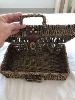 (Rattan) Picnic Bag