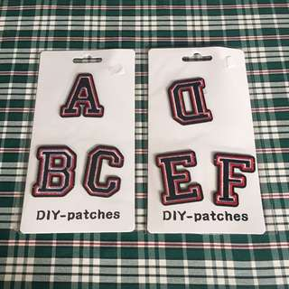 DIY Letter Patches
