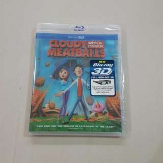 Cloudy With A Chance Of Meatballs, Blu-ray 3D *Brand New*