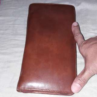 GENUINE LEATHER Card and passport holder