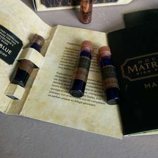 House of matriarch niche perfume vials