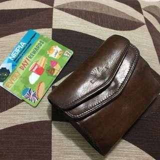 Brown genuine leather wallet 💯