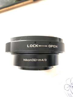 M4/3 to Nikon Lens adaptor