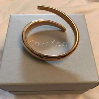 Calvin Klein bangle bracelet gold
