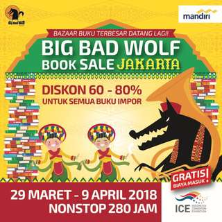 Jasa Titip Pembelian Buku Big Bad Wolf 2018 Jakarta