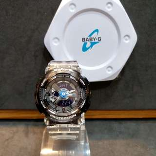 * FREE DELIVERY * Brand New 100% Authentic Casio BabyG Black Jelly Baby G Ladies Watch Baby-G BA110JM 1 BA110JM-1ADR