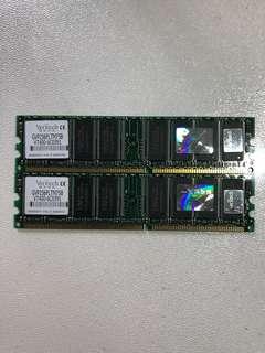 Veritech DDR400 256MB RAM 二條