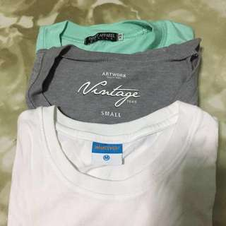 SHIRTS BUNDLE: Thrift Apparel MNL Chubs Shirt, Artwork V-neck Shirt, & Whatever Shirt