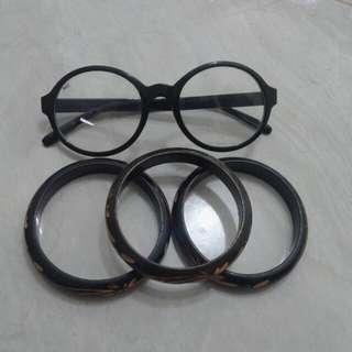 Kacamata + Gelang 3pcs