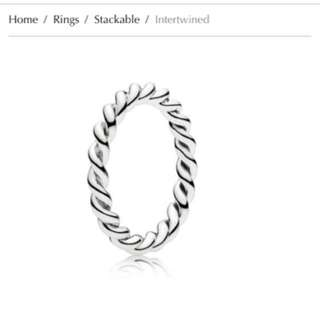 Pandora Intertwined Ring Size 48 (4.5)